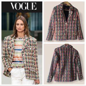 CHANEL 2020 Tweed Blazer (w/ Hanger & Garment Bag)